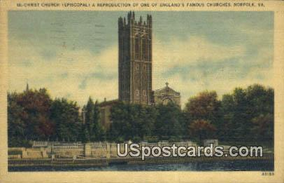 Christ Church - Norfolk, Virginia VA Postcard