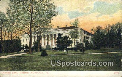 Norfolk Naval Hospital - Virginia VA Postcard