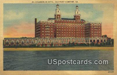 Chamberlin Hotel - Old Point Comfort, Virginia VA Postcard