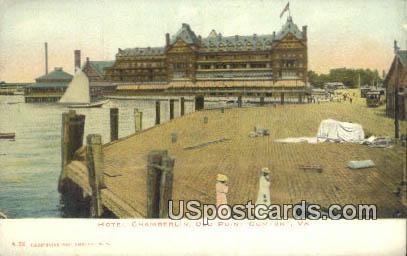 Hotel Chamberlain - Old Point Comfort, Virginia VA Postcard