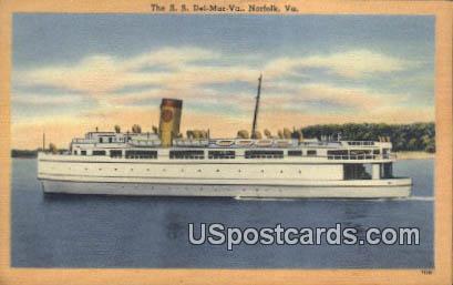 SS Del-Mar-Va - Norfolk, Virginia VA Postcard