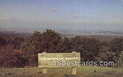 Shenandoah Valley, Virginia Postcard     ;       Shenandoah Valley, VA