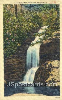 Mountain Waterfalls - Misc, Virginia VA Postcard