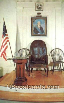 Master's Chair, Alexandria Washington Lodge - Virginia VA Postcard