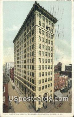National Bank of Commerce - Norfolk, Virginia VA Postcard