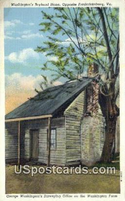 Washington's Boyhood Home - Fredericksburg, Virginia VA Postcard