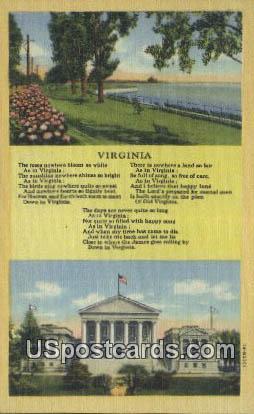 Misc, Virginia Postcard     ;       Misc, VA