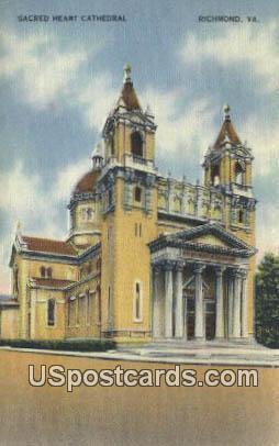 Sacred Heart Cathedral - Richmond, Virginia VA Postcard