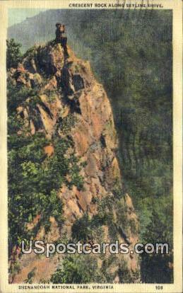 Crescent Rock - Shenandoah National Park, Virginia VA Postcard
