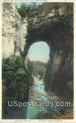 Natural Bridge, VA Postcard       ;         Natural Bridge, Virginia