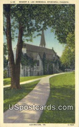 Robert E Lee Memorial Episcopal Church - Lexington, Virginia VA Postcard