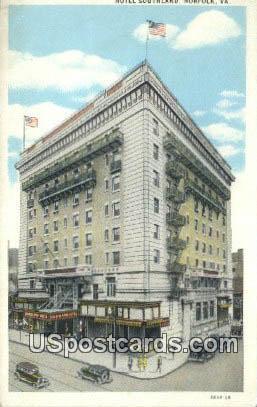 Hotel Southland - Norfolk, Virginia VA Postcard