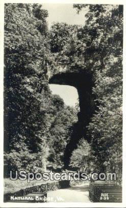 Real Photo - Natural Bridge, Virginia VA Postcard