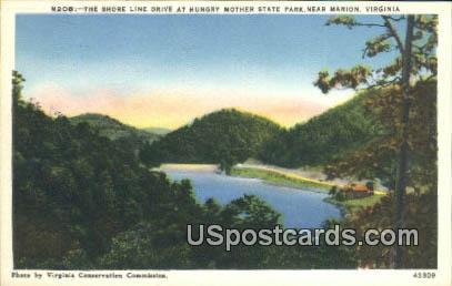 Shore Line Drive - Marion, Virginia VA Postcard