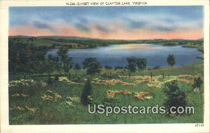 Claytor Lake, Virginia Postcard     ;       Claytor Lake, VA