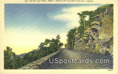 Swift Run Gape - Skyline Drive, Virginia VA Postcard