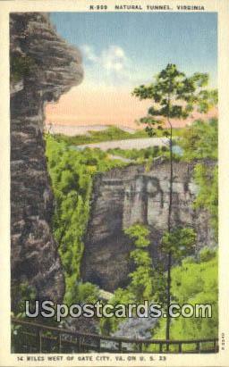 Natural Tunnel, VA Postcard       ;         Natural Tunnel, Virginia