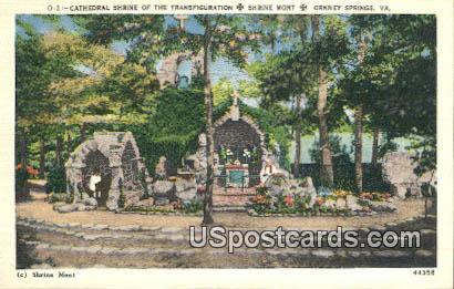 Cathedral Shrine of the Transfiguration - Orkney Springs, Virginia VA Postcard