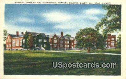 Commons & Dormitories, Roanoke College - Salem, Virginia VA Postcard