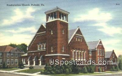 Presbyterian Church - Pulaski, Virginia VA Postcard
