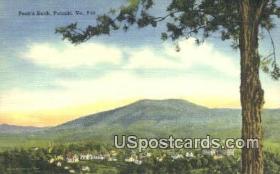 Peak's Knob - Pulaski, Virginia VA Postcard