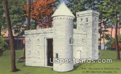 Castle, Children's Zoo - Roanoke, Virginia VA Postcard
