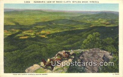 Rocky Cliffs - Skyline Drive, Virginia VA Postcard