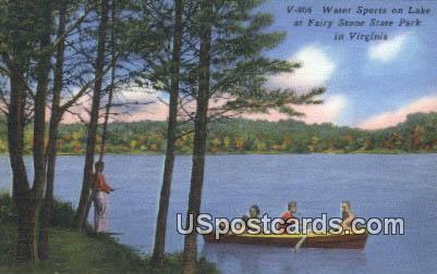 Water Sports - Fairy Stone State Park, Virginia VA Postcard