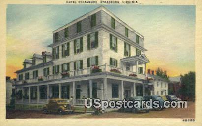 Hotel Strasburg - Virginia VA Postcard