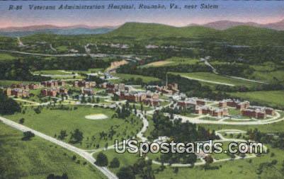 Veterans Administration Hospital - Roanoke, Virginia VA Postcard