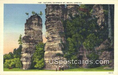 Natural Chimneys - Mt Solon, Virginia VA Postcard