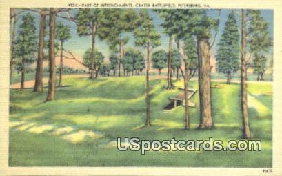 Crater Battlefield - Petersburg, Virginia VA Postcard