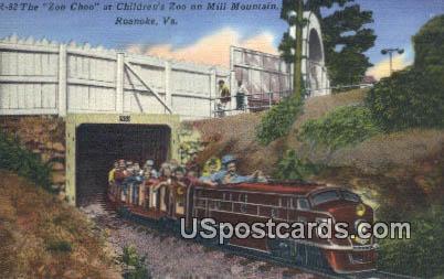 Zoo Choo, Children's Zoo - Roanoke, Virginia VA Postcard