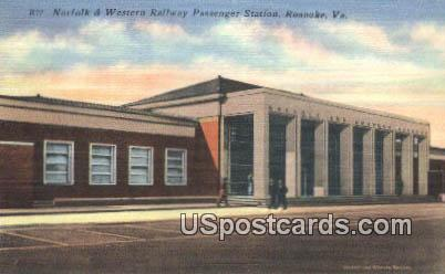 Norfolk & Western Railway Passenger Station - Roanoke, Virginia VA Postcard