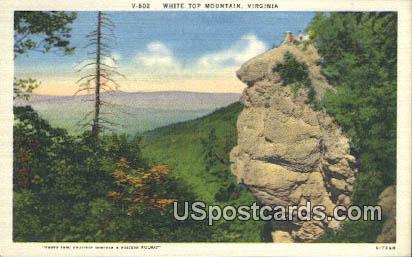 White Top Mountain, VA Postcard       ;         White Top Mountain, Virginia