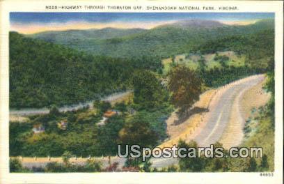 Thornton Gap - Shenandoah National Park, Virginia VA Postcard