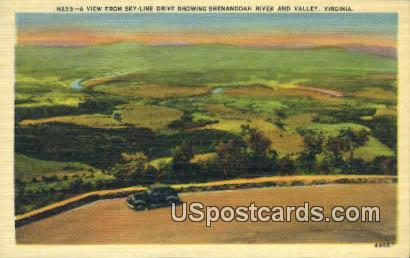 Skyline Drive - Shenandoah Valley, Virginia VA Postcard