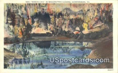 Mirror Lake - Harrisonburg, Virginia VA Postcard