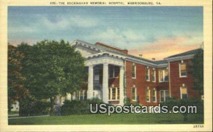 Rockingham Memorial Hospital - Harrisonburg, Virginia VA Postcard