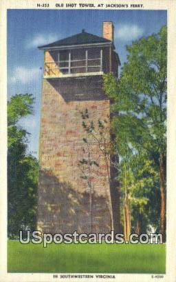 Old Shot Tower - Jacksons Ferry, Virginia VA Postcard