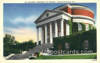 Rotunda, University of Virginia - Charlottesville Postcard