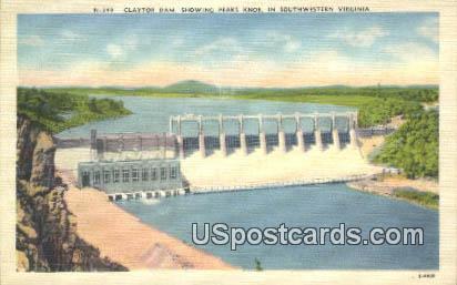 Claytor Dam - Southwestern Virginia Postcards, Virginia VA Postcard
