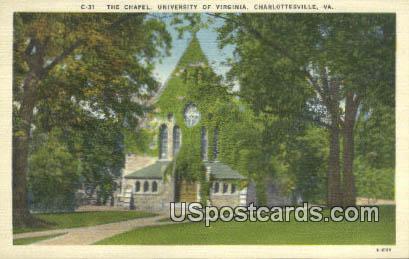 Chapel, University of Virginia - Charlottesville Postcard