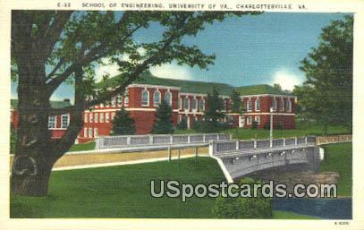 School of Engineering, University of Virginia - Charlottesville Postcard