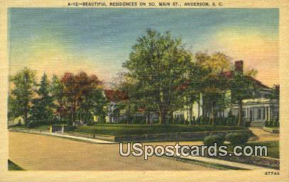 Residences - Anderson, Virginia VA Postcard