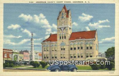 Anderson County Court House - Virginia VA Postcard