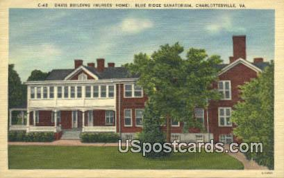 Davis Building - Charlottesville, Virginia VA Postcard