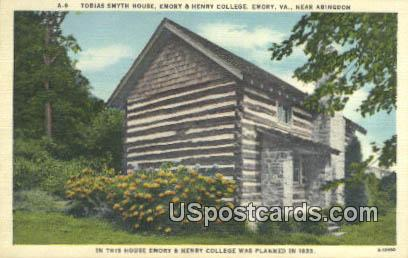 Tobias Smyth House - Emory, Virginia VA Postcard