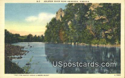 Holston River - Abingdon, Virginia VA Postcard