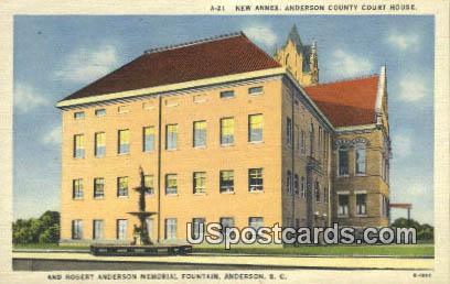 New Annex, Anderson County Court House - Virginia VA Postcard